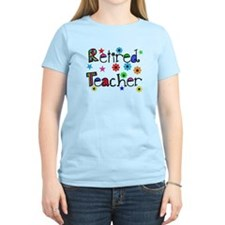 retired teacher stars flowers T-Shirt