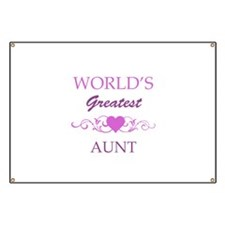 World's Greatest Aunt (purple) Banner