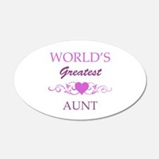 World's Greatest Aunt (purple) Wall Decal