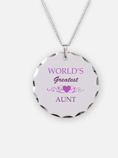 World's Greatest Aunt (purple) Necklace