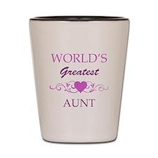 World's Greatest Aunt (purple) Shot Glass