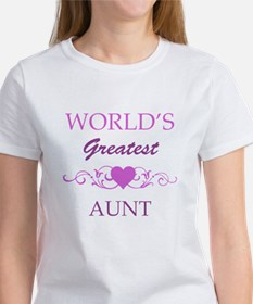 World's Greatest Aunt (purple) Tee