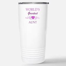 World's Greatest Aunt (purple) Travel Mug