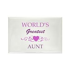 World's Greatest Aunt (purple) Rectangle Magnet
