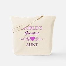 World's Greatest Aunt (purple) Tote Bag