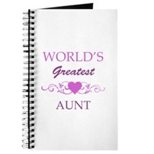 World's Greatest Aunt (purple) Journal