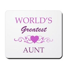 World's Greatest Aunt (purple) Mousepad