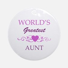 World's Greatest Aunt (purple) Ornament (Round)