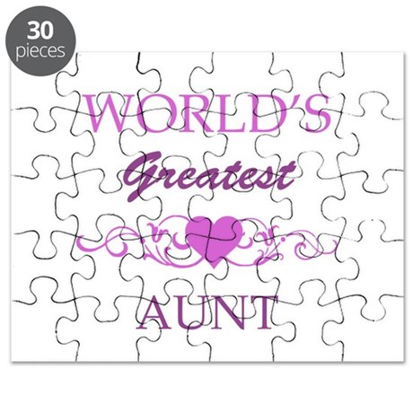 World's Greatest Aunt (purple) Puzzle