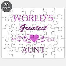 World's Greatest Aunt (purple) Puzzle