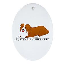 Australian Shepherd Dog Ornament (Oval)