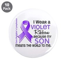 """LO Means World H Lymphoma 3.5"""" Button (10 pack)"""