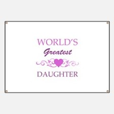 World's Greatest Daughter (purple) Banner
