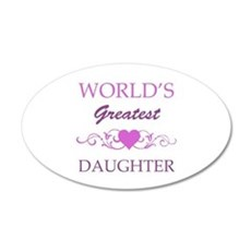 World's Greatest Daughter (purple) Wall Decal
