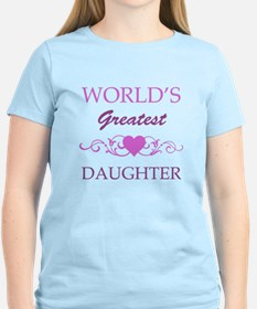 World's Greatest Daughter (purple) T-Shirt
