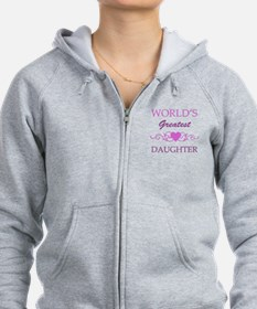 World's Greatest Daughter (purple) Zip Hoodie