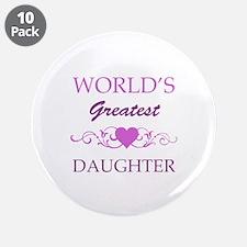 "World's Greatest Daughter (purple) 3.5"" Button (10"