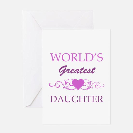 World's Greatest Daughter (purple) Greeting Card