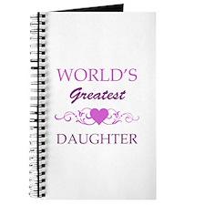 World's Greatest Daughter (purple) Journal