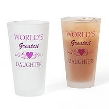 World's Greatest Daughter (purple) Drinking Glass