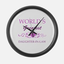 World's Greatest Daughter-In-Law (purple) Large Wa