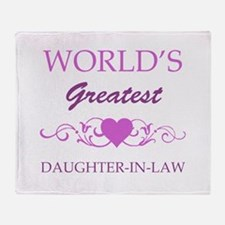World's Greatest Daughter-In-Law (purple) Throw Bl
