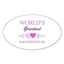 World's Greatest Daughter-In-Law (purple) Decal