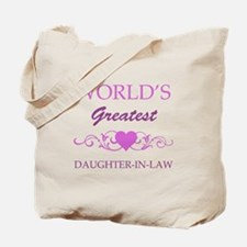 World's Greatest Daughter-In-Law (purple) Tote Bag