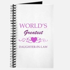 World's Greatest Daughter-In-Law (purple) Journal