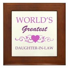 World's Greatest Daughter-In-Law (purple) Framed T