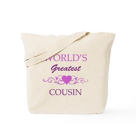 World's Greatest Cousin (purple) Tote Bag