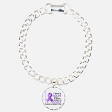 LO Means World H Lymphoma Charm Bracelet, One Char