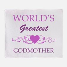 World's Greatest Godmother (purple) Throw Blanket