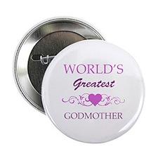 "World's Greatest Godmother (purple) 2.25"" Button"