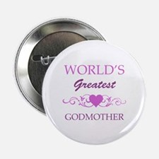 "World's Greatest Godmother (purple) 2.25"" Button"