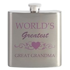 World's Greatest Great Grandma (purple) Flask