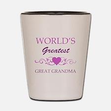 World's Greatest Great Grandma (purple) Shot Glass
