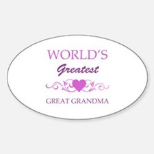World's Greatest Great Grandma (purple) Decal