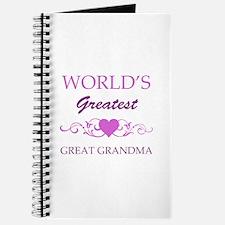 World's Greatest Great Grandma (purple) Journal