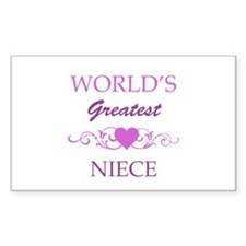 World's Greatest Niece (purple) Decal
