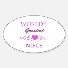 World's Greatest Niece (purple) Sticker (Oval)
