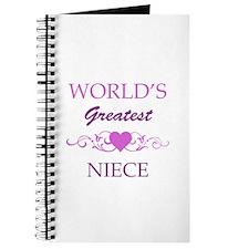 World's Greatest Niece (purple) Journal
