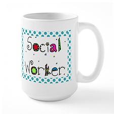 social worker POLKA DOTS Mug