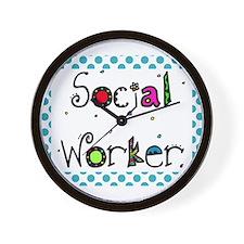 social worker POLKA DOTS Wall Clock