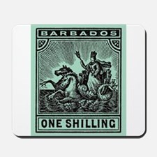 Antique 1909 Barbados Seal of Colony Postage Stamp