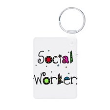 social worker WORDS Keychains