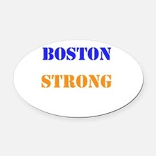 Boston Strong Print Oval Car Magnet