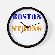 Boston Strong Print Wall Clock