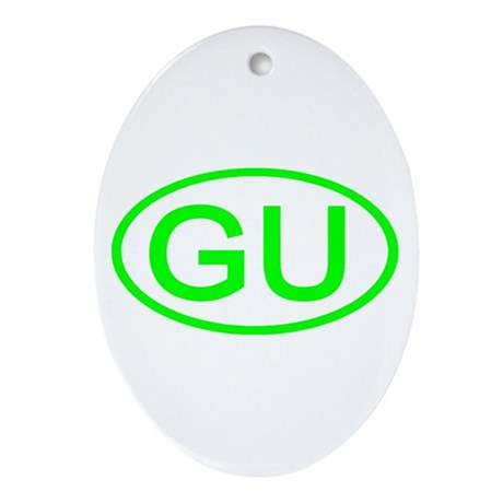 GU Oval - Guam Oval Ornament