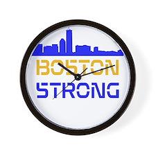 Boston Strong Skyline Multi-Color Wall Clock